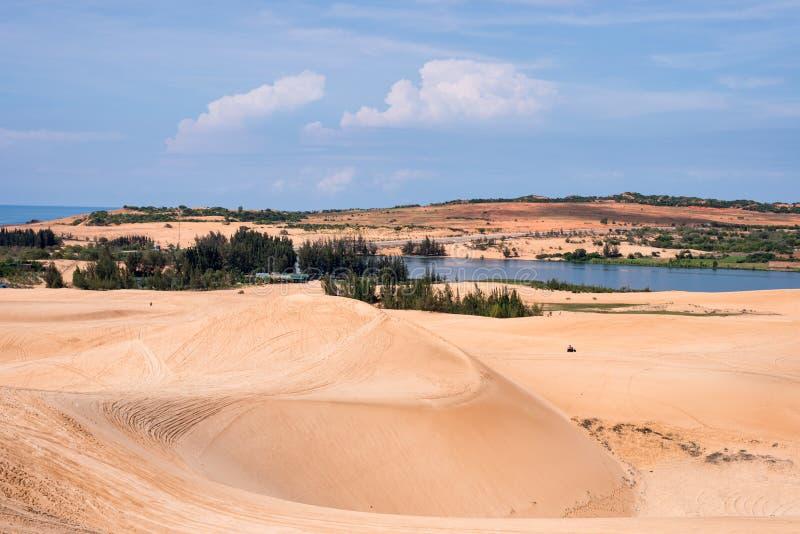 Phan Thiet sand dunes. Phan Thiet travel landmark, Binh Thuan, Vietnam royalty free stock image