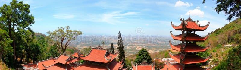 Pagoda of Nirvana Buddha on Ta Cu mountain in Vietnam, Panorama stock photos