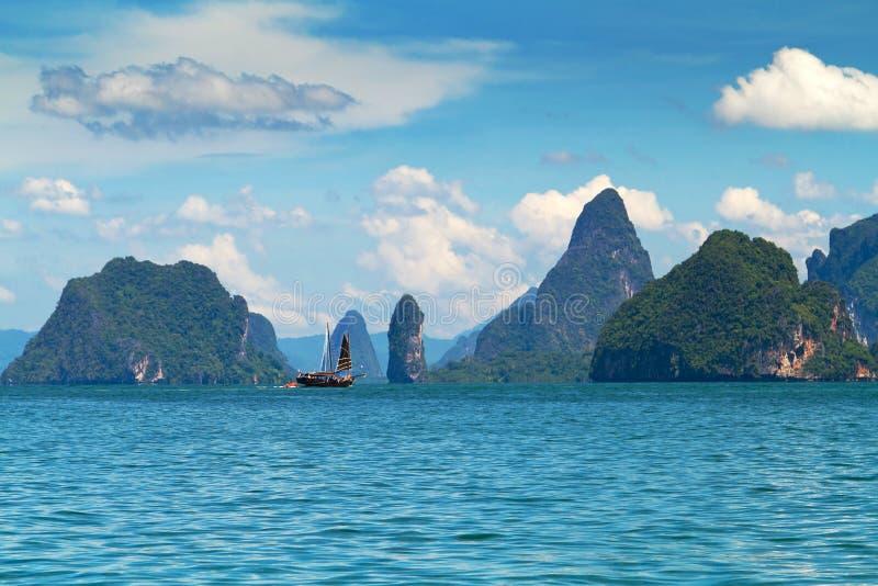 Phang Nga海湾的国家公园在泰国 库存图片