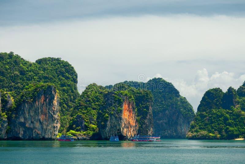 Phang Nga archipelag blisko Phuket, Tajlandia zdjęcie royalty free