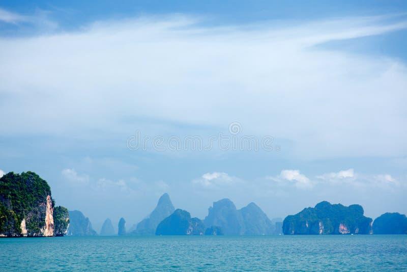 Phang Nga archipelag blisko Phuket, Tajlandia obraz stock