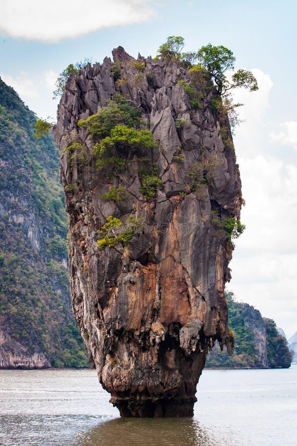 Phangnga-Bucht, James Bond Island in Thailand stockfotos