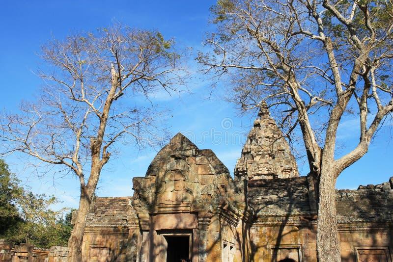Phanom звенело исторический парк на провинции Buriram, Таиланде, общественной архитектуре для перемещения стоковая фотография
