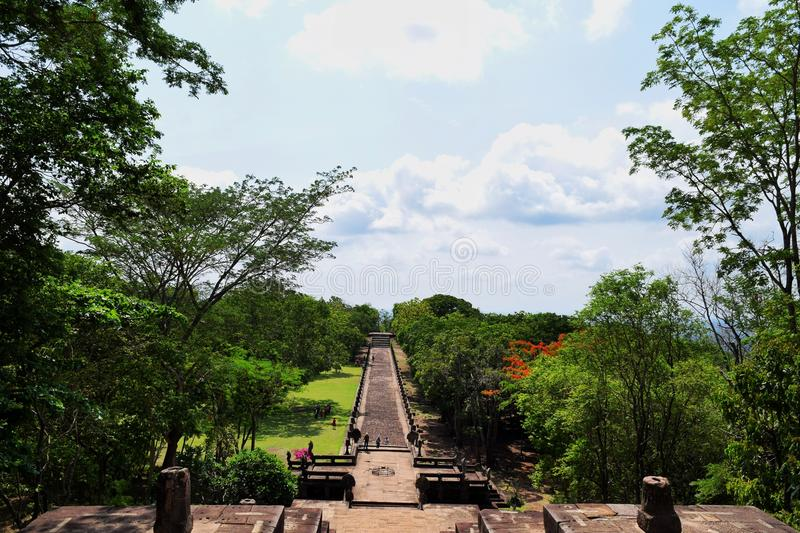 Phanom roong castle stock photography