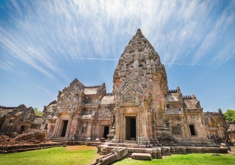 Phanom soou o parque ou o templo histórico do degrau de Prasat Phanom situado na província de Buriram, Tailândia imagem de stock