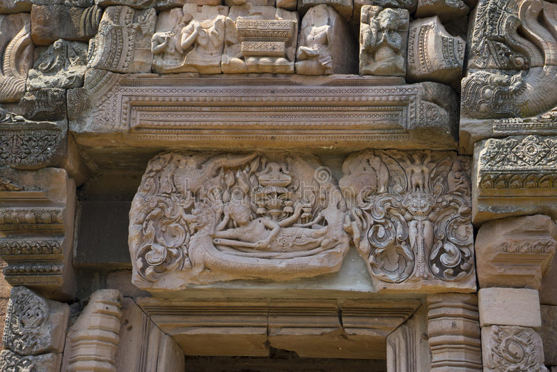 Phanomrung historical park,Burirum,Thailand. Details of sandstone carving at Phanomrung historical park,Burirum,Thailand royalty free stock photos