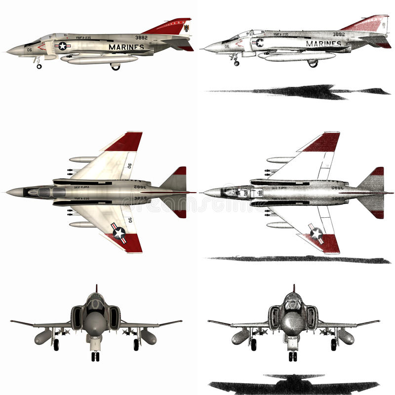 Download Phantom - Fighter Aircraft stock illustration. Image of aircraft - 17792234