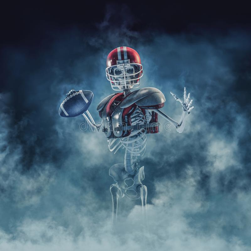 The phantom football quarterback stock illustration