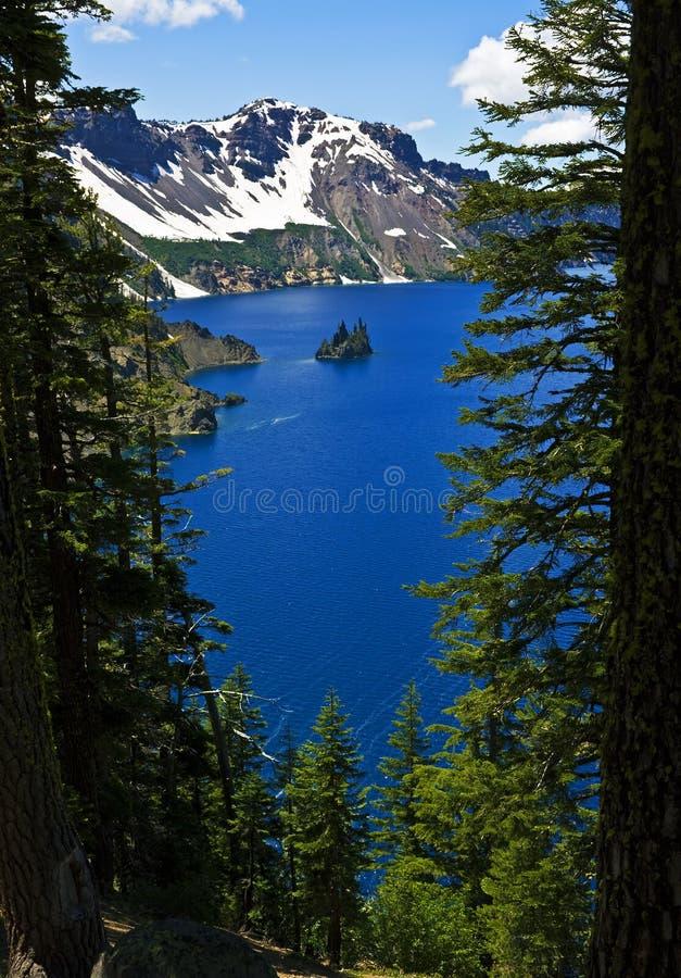 Phantom Ship, Crater Lake stock images