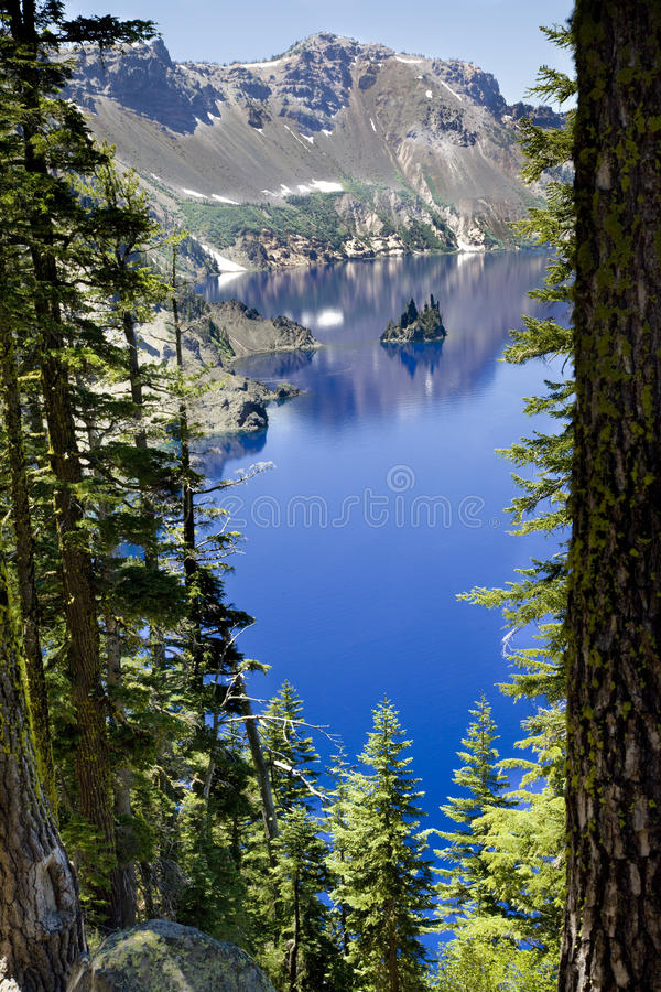 Phantom Ship, parque nacional do lago crater, Oregon, Estados Unidos fotografia de stock royalty free