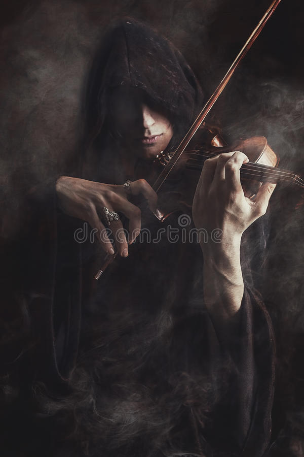 Phantom violinist stock images