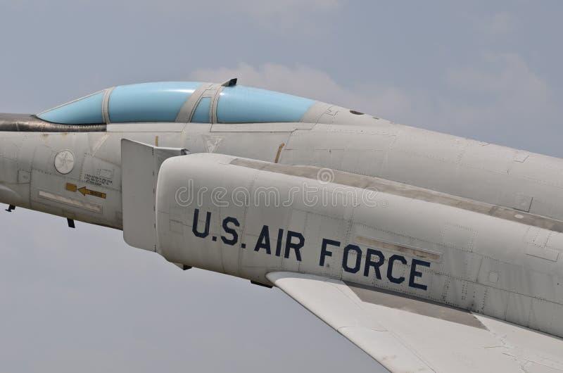 Phanton F-4 samolot w muzeum obrazy stock