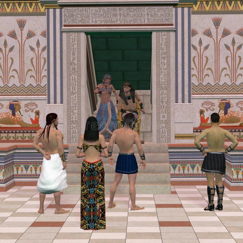 Pharao-Thron Hall stockfotos