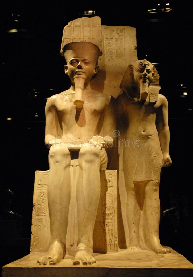 Pharaoh και αξιωματούχος στοκ φωτογραφία με δικαίωμα ελεύθερης χρήσης
