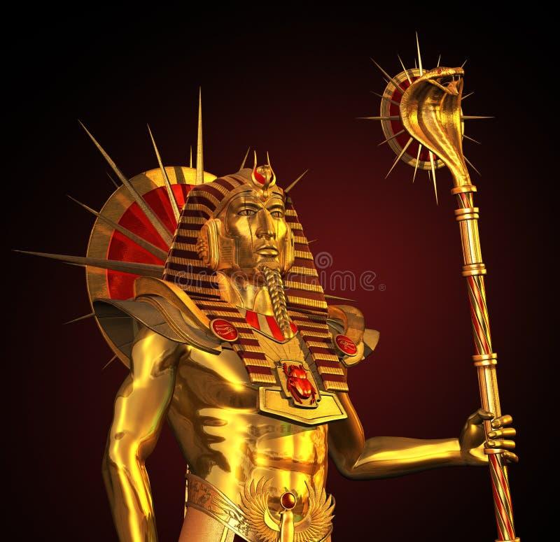 Pharaoh antyczna Egipska Statua ilustracji