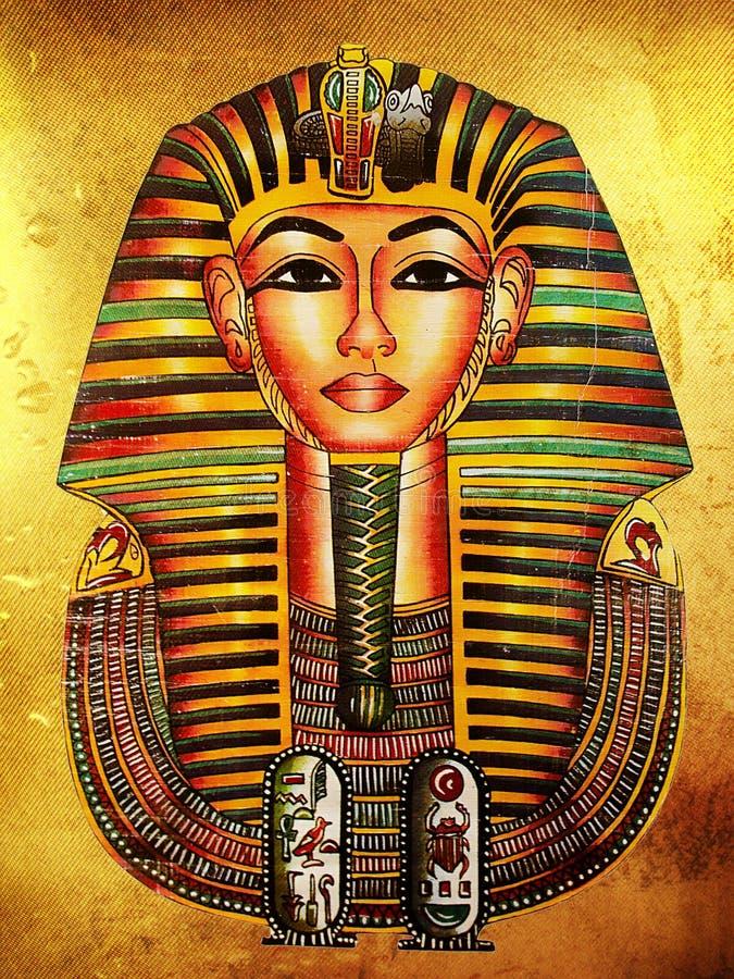 Pharaoh de oro ilustración del vector