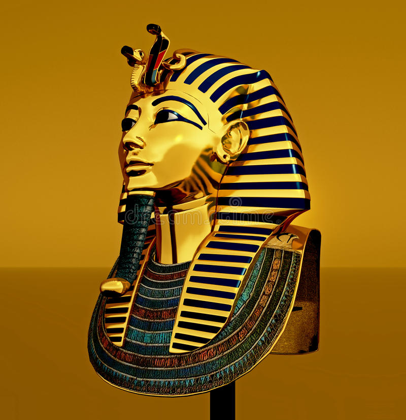 Download Pharaoh death mask stock illustration. Illustration of pharaoh - 13658045