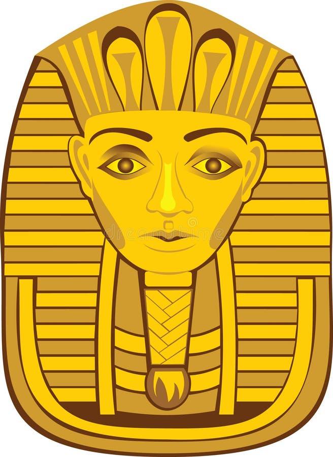 Pharaoh dourado ilustração royalty free