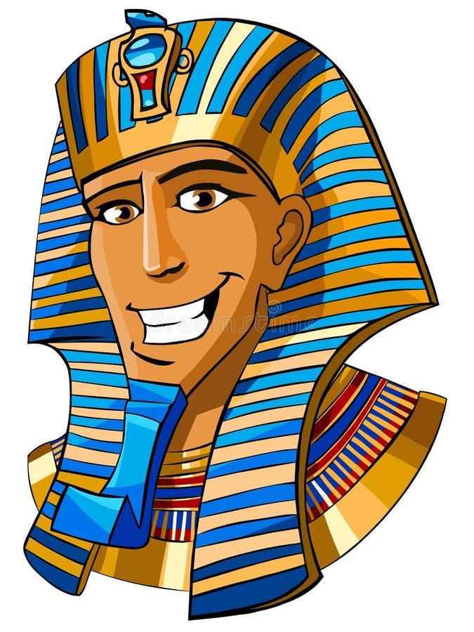 Pharaoh egípcio ilustração do vetor