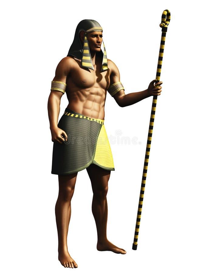 Pharaoh egípcio ilustração royalty free