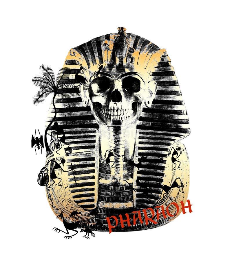 pharaoh ethnic t-shirt printed royalty free illustration
