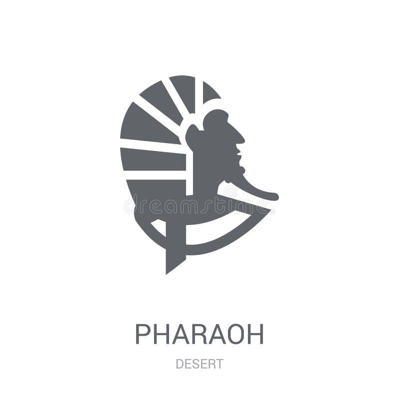 Pharaoh icon. Trendy Pharaoh logo concept on white background fr stock illustration