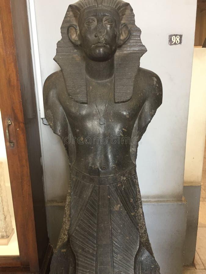 Pharaoh królewiątka Senusret III statua fotografia stock