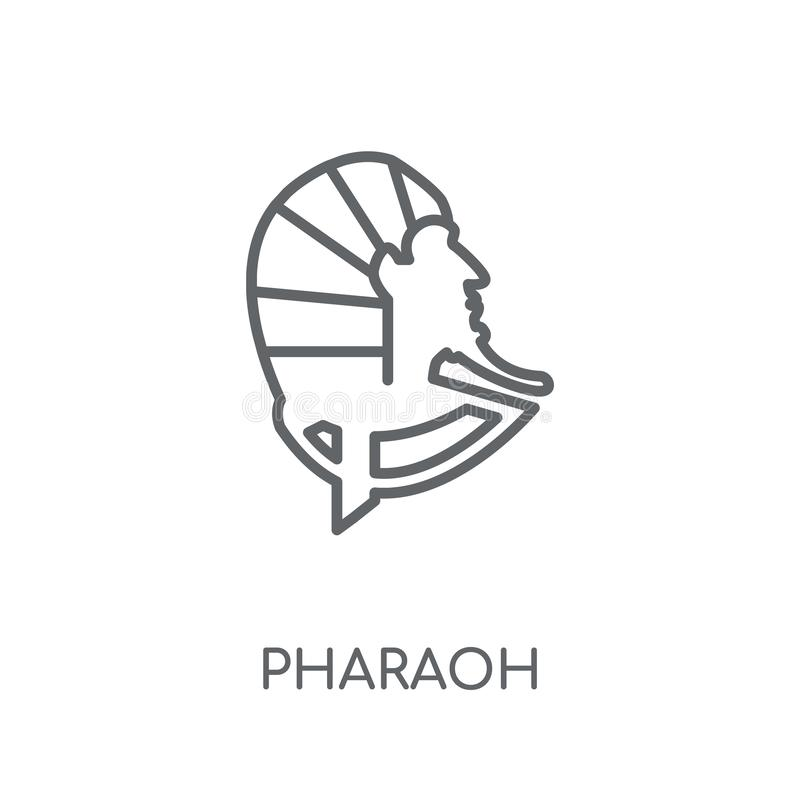 Pharaoh linear icon. Modern outline Pharaoh logo concept on whit vector illustration