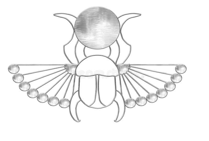 pharaoh scarab ελεύθερη απεικόνιση δικαιώματος