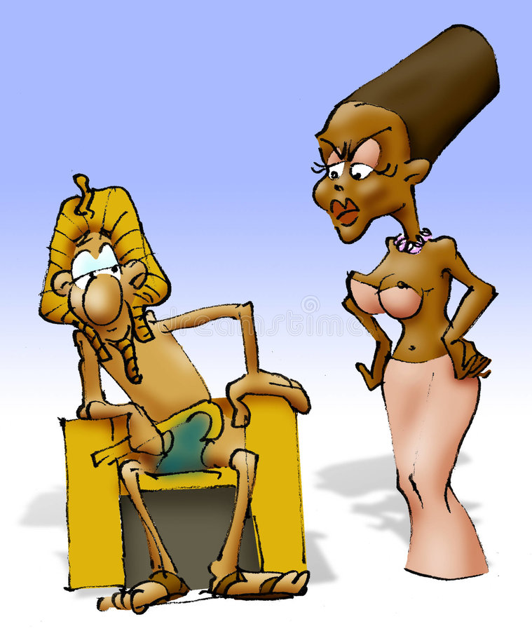 Download Pharaoh Sitting, Queen Not Happy Stock Illustration - Image: 4269494