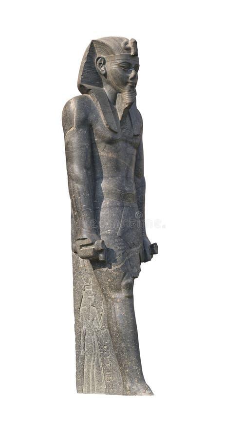 Pharaoh statue cutout stock image
