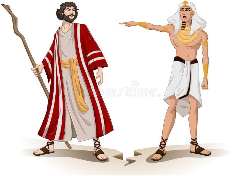 Pharaoh Wysyła Mojżesz Daleko od Dla Passover ilustracji