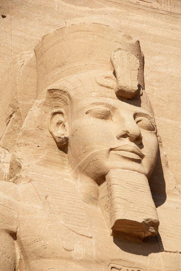 Pharaohhuvudskulptur royaltyfria foton