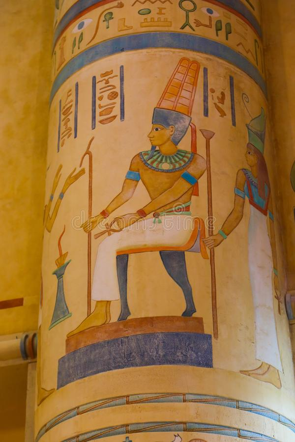 Pharaohs Egyptian Arts. At Ibn Batuta mall - Dubai Emirates stock image