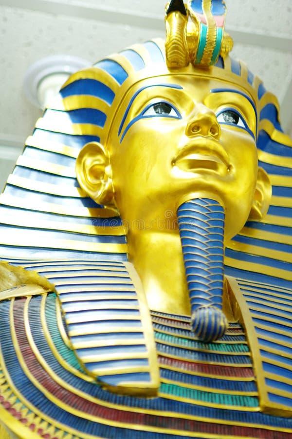 Pharaohs mask. Decor egyptian golden pharaohs mask royalty free stock images