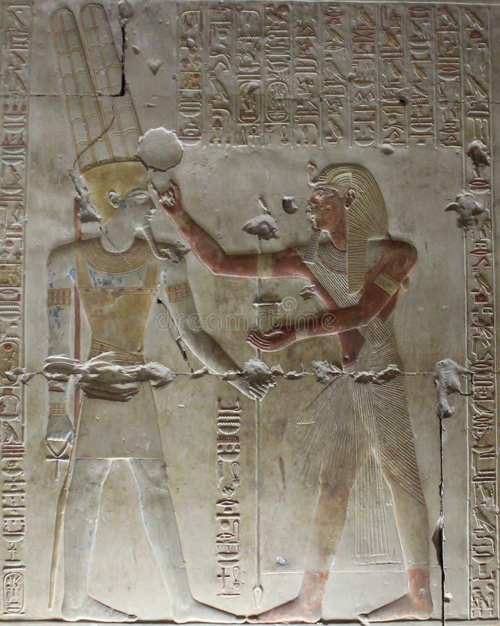 Pharaohs nas paredes em Egito foto de stock