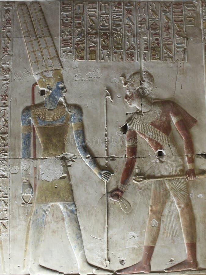 Pharaohs nas paredes em Egito fotografia de stock