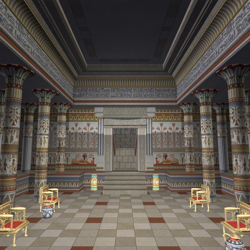 pharaohstempel vektor illustrationer