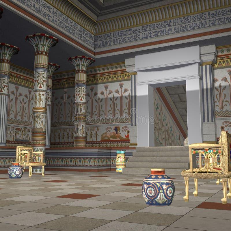pharaohstempel stock illustrationer