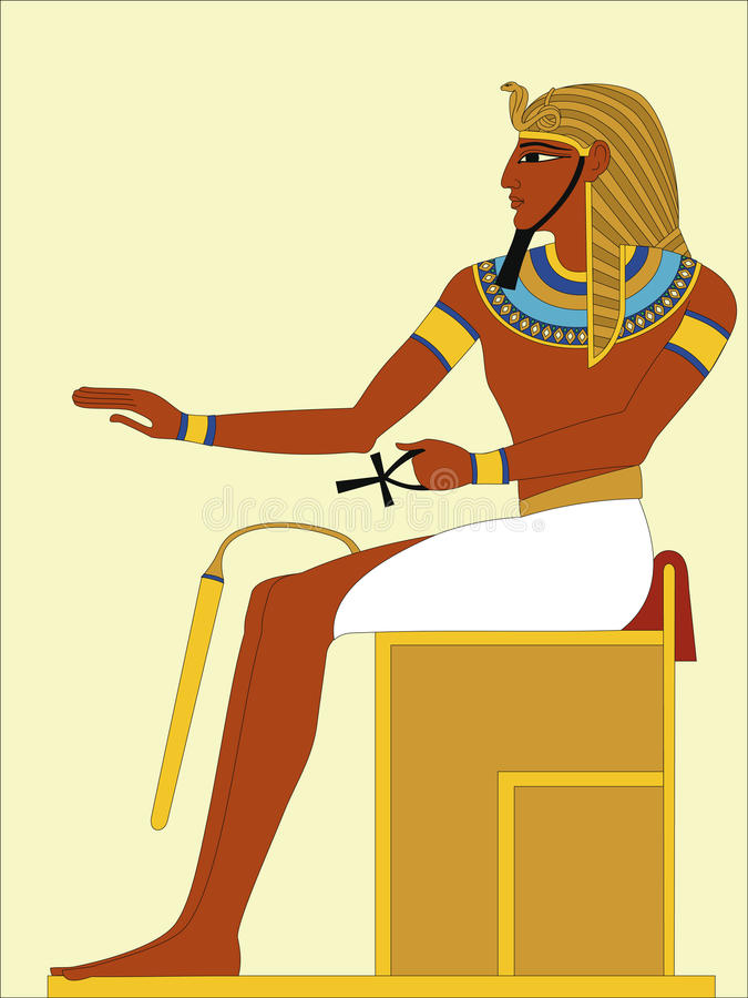 Pharaon illustration libre de droits