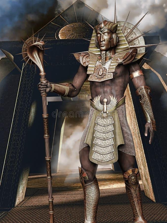 pharaon d'or illustration stock