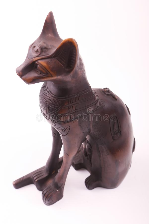 Pharaonic kattstatyett royaltyfri foto