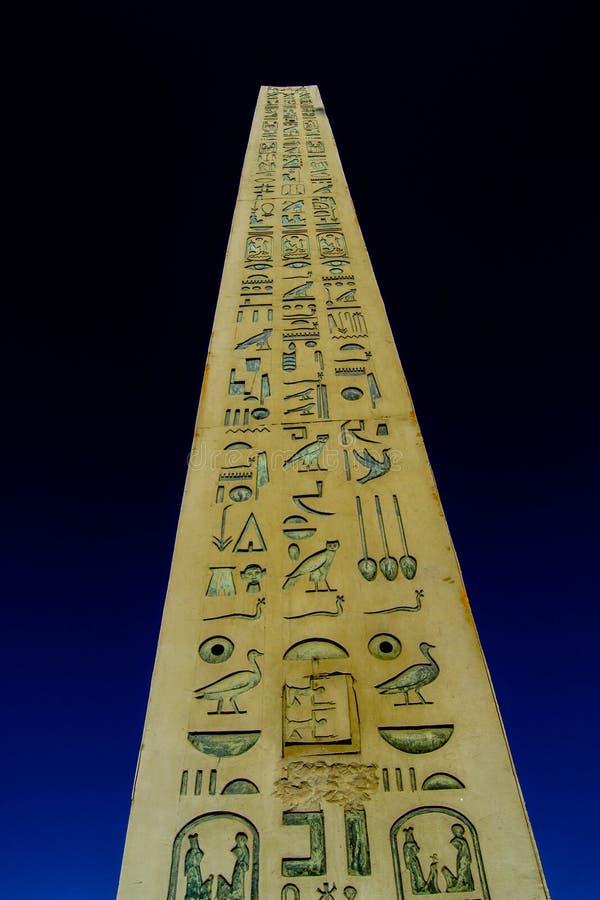 Pharaonic obelisk arkivbild