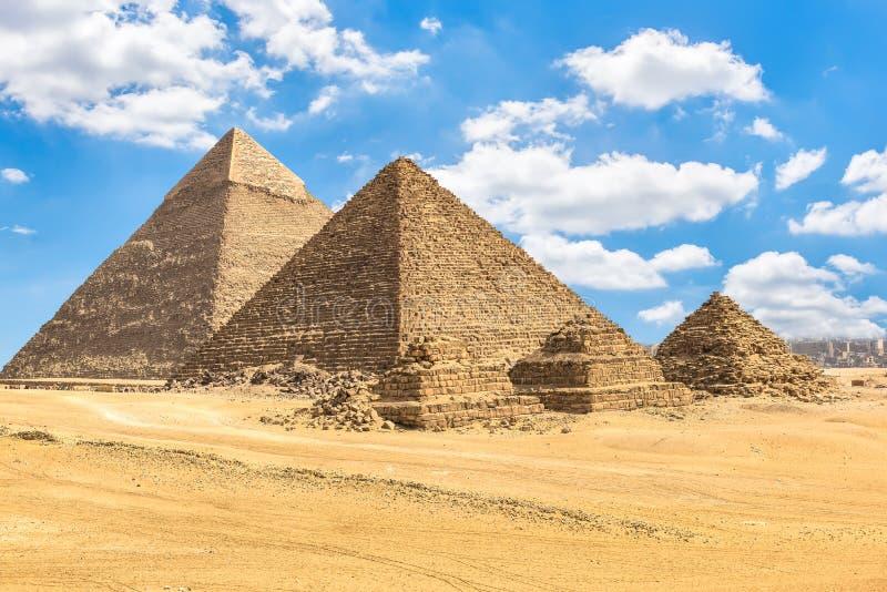 pharaos和女王/王后金字塔  库存照片