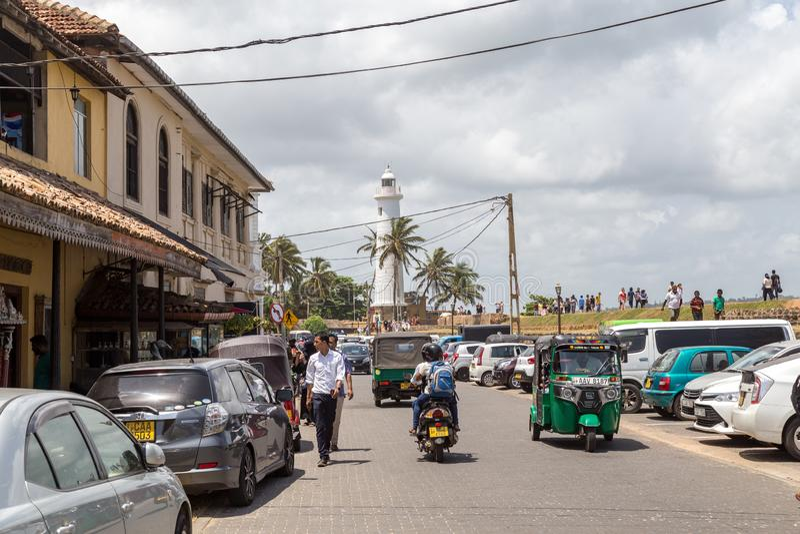 Phare à Galle, Sri Lanka photo libre de droits