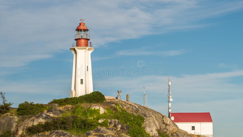 Phare à Vancouver occidental, Colombie-Britannique, Canada image stock