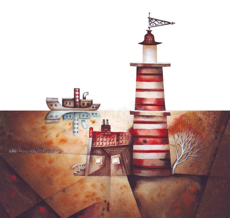 Phare illustration stock