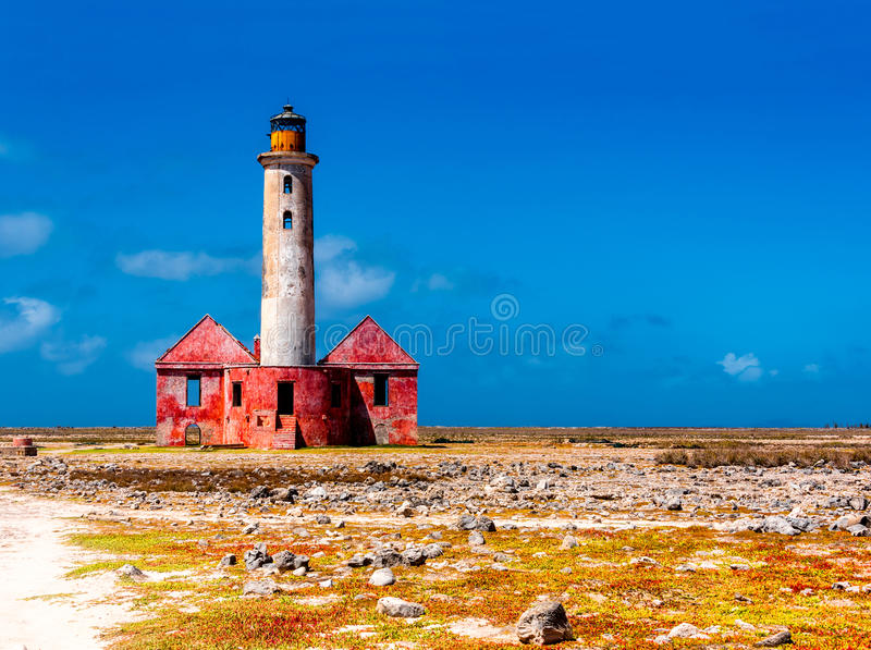 Phare abandonné images stock