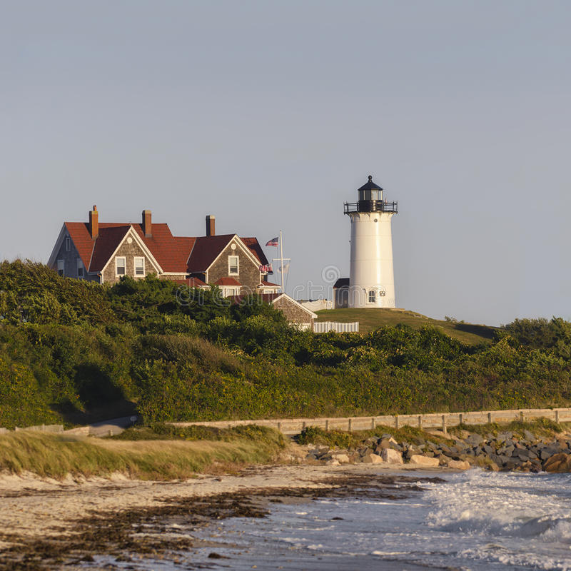 Phare Cape Cod le Massachusetts de Nobska photos libres de droits