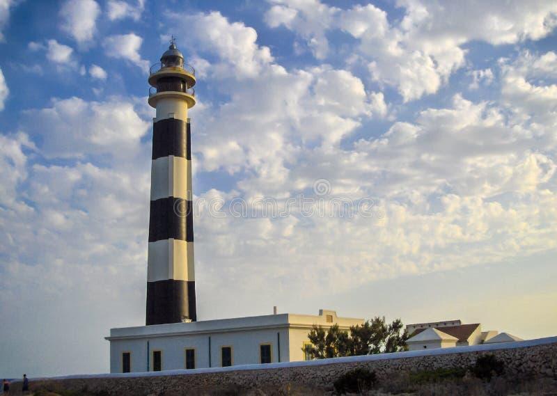 Phare d'Artrutx dans Menorca photographie stock